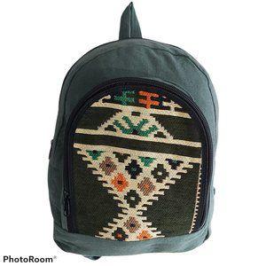 NEW Handmade Tribal canvas backpack boho hippie
